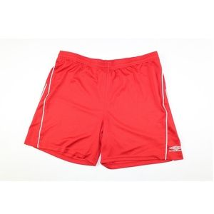 Umbro Mens M  Athletic Soccer Gym Shorts Red